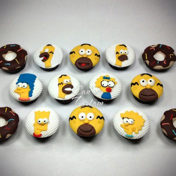 Bart Simpson Meggie Simpson Homer Simpson Cupcake Donut