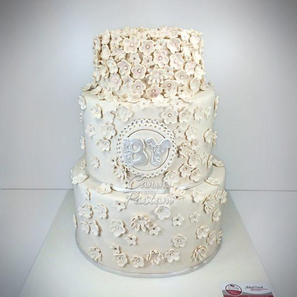 Flower Engagement Cake