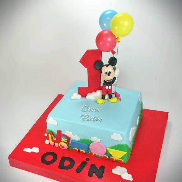 1 Yaş Pastası Mickey Cake