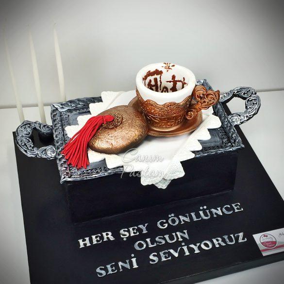 Turkish Coffee Cake Realistic Cake Türk Kahvesi