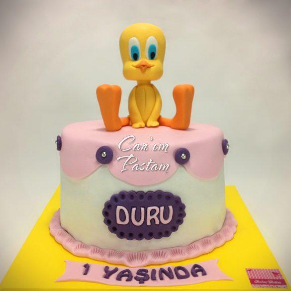 1 Yaş pastası Tweety Cake